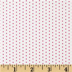 Vertical Tiny Dots White/Pink