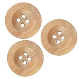 Genuine Wood Button 3/4'' Oakwood Natural