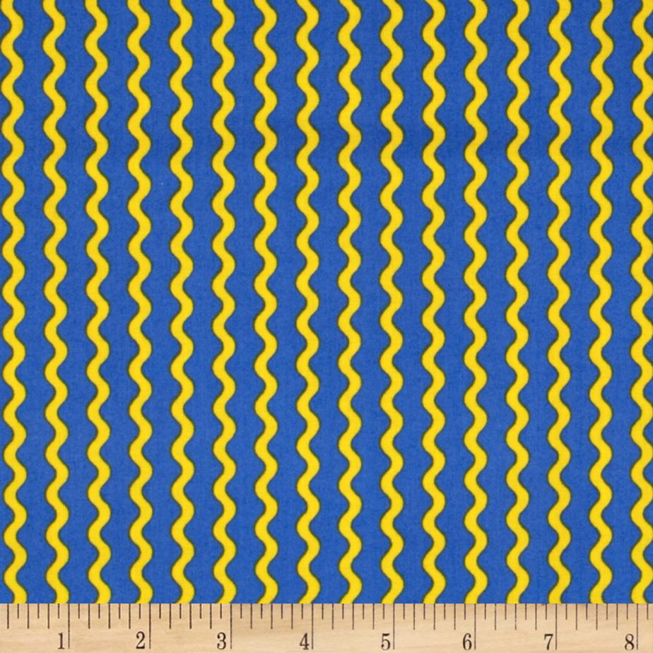 Under The Sea Wavy Stripe Blue/Yellow