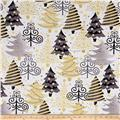 All That Glitters Metallic Christmas Trees White