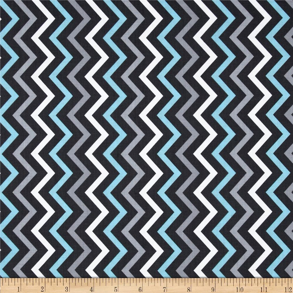 Michael Miller Mini Chic Chevron Gray