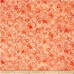 Bali Batiks Handpaints Hexagons Sherbet