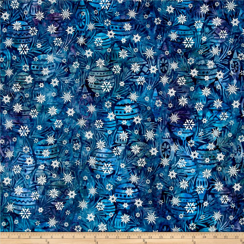 Kaufman Batiks Noel Metallic Bulbs Winter