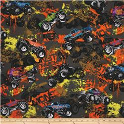 Kanvas On The Road Again Monster Grey Fabric