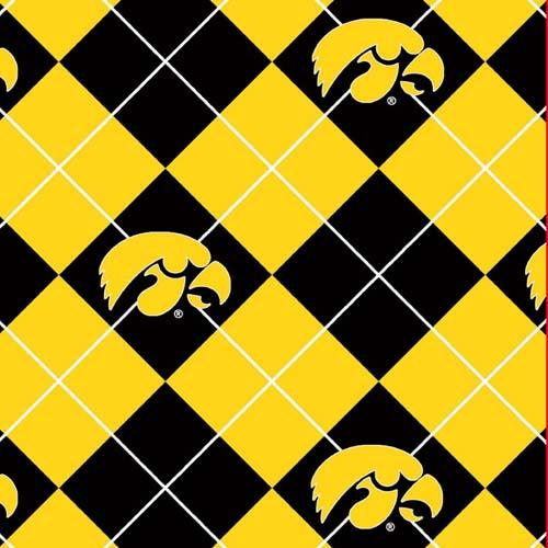 Collegiate Fleece University of Iowa Argyle Yellow/Black