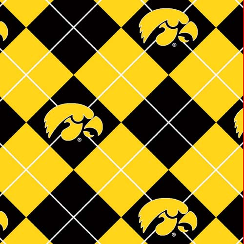 Collegiate Fleece University of Iowa Argyle