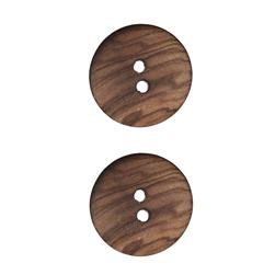 Wood Button 1'' Iroquois Natural
