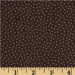Designer Chiffon Pin Dots Brown/Beige