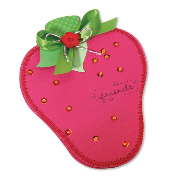 Sizzix Bigz XL Die - Card, Strawberry &