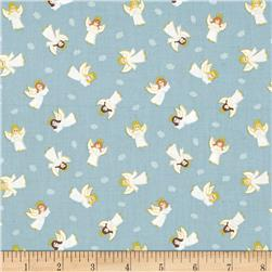 Lewis & Irene Small Things At Christmas Little Angels Icy Blue