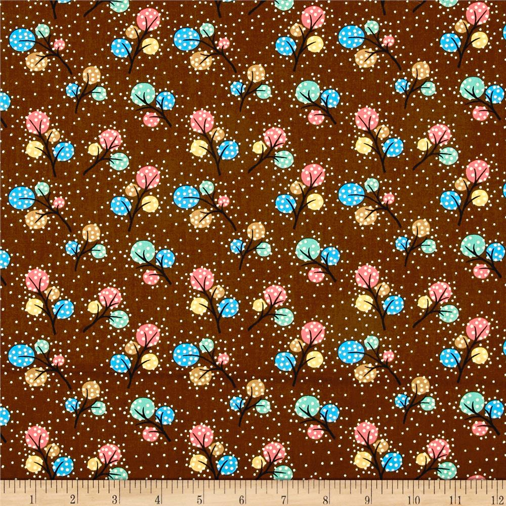 Woodland Friends Dots Brown