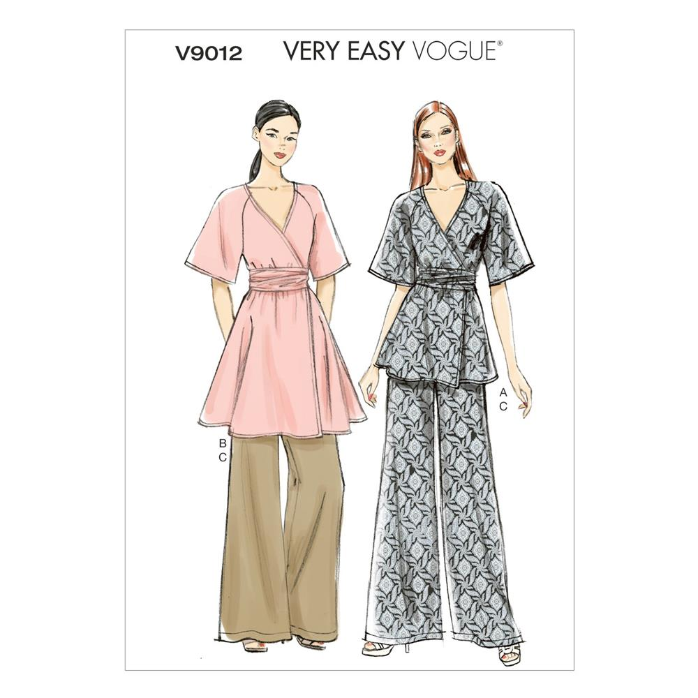 Vogue Misses' Top, Belt and Pants Pattern V9012 Size A50