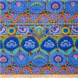 Artisan by Kaffe Fasset Embroidered Flower Blue