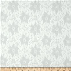 Stretch Nylon Lace Grey Fabric