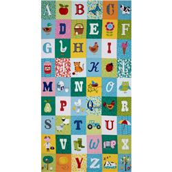 Jolly Farm 24'' Alphabet Panel Multi Fabric