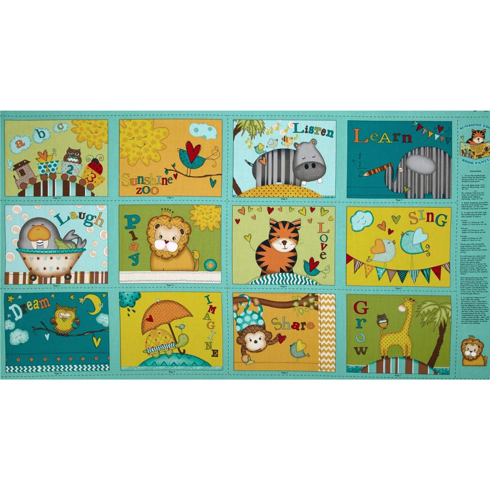 Sunshine Zoo Soft Book Panel Multi