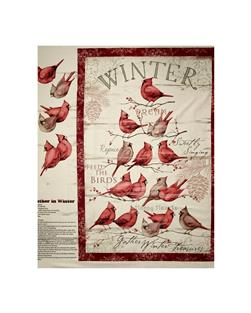 Susan Winget Cardinal Winter 36 In. Panel Red