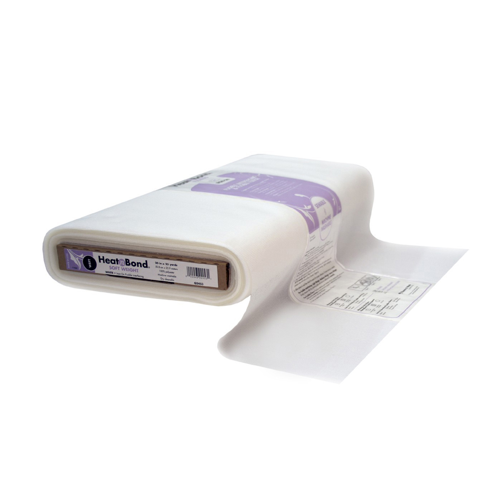 Heat'n Bond Weft Fusible Soft Weight White 21.5''
