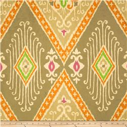 Iman Home Ikat Diamond Antique Velvet Nectar