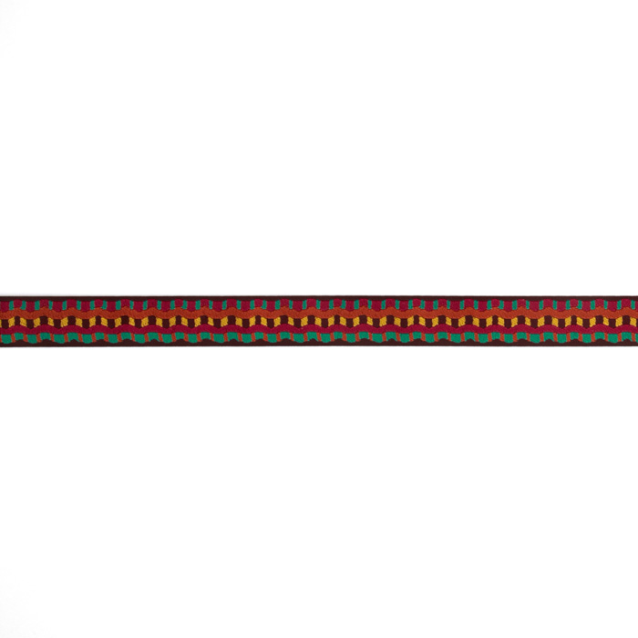 7/8'' Laura Foster Nicholson Earthen Stripes Ribbon Multi