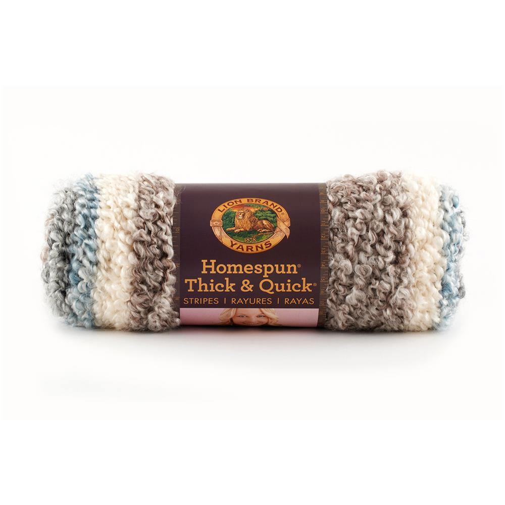 Lion Brand Homespun Thick & Quick Stripes Yarn 211 Granite Stripes