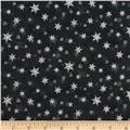 Holiday Accents Classics 2014 Snowflake Metallic Black