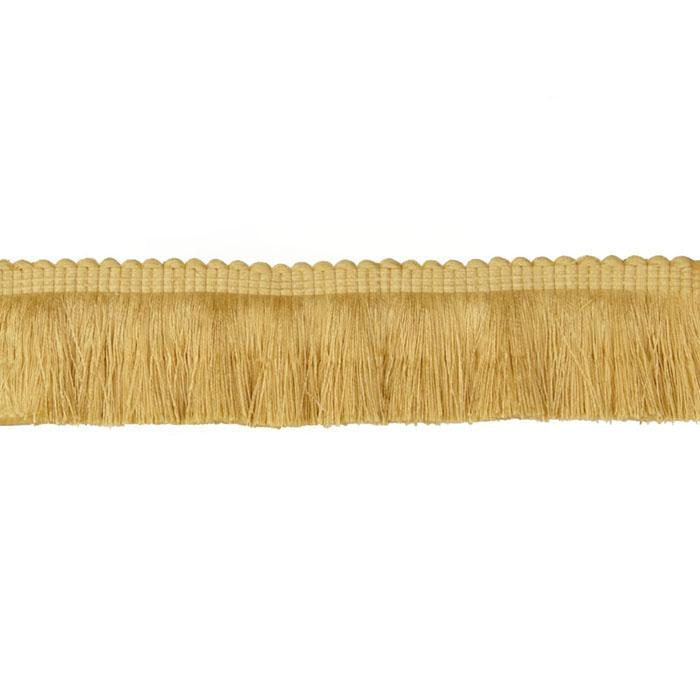"Duralee 2 1/4"" Brush Fringe Ivory/Yellow"