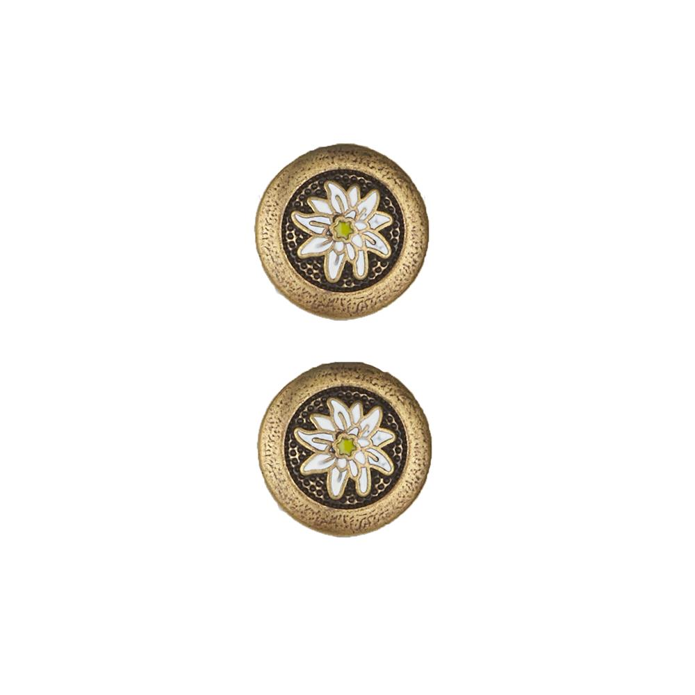 Dill Buttons 11/16'' Full Metal Enamelled Antique Brass