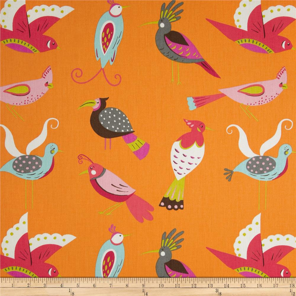 Waverly For the Birds Twill Flamingo