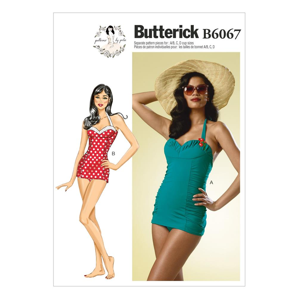 Butterick Misses' Swimsuit Pattern B6067 Size AX5