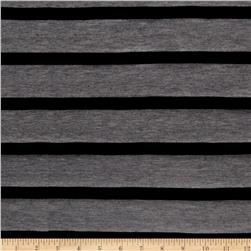 Jersey Knit Multistripe Black/Grey