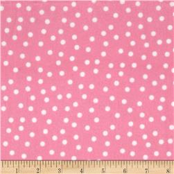 Remix Flannel Dots Bubble Gum Fabric