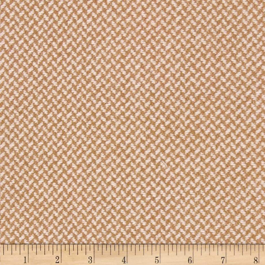 Wool Blend Coating Tan/Cream Fabric