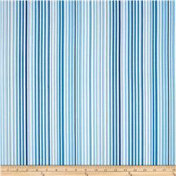 Contempo Butterfly Pencil Stripe Blue