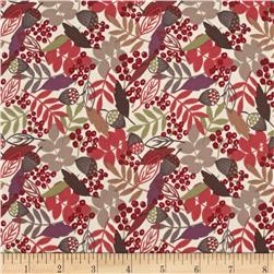 Lewis & Irene Autumn Fields Acorns & Leaves Cream