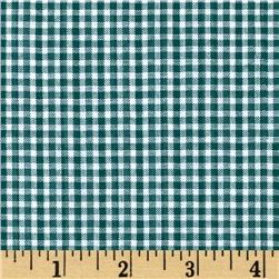 Woven Poly/Cotton Seersucker Green Fabric