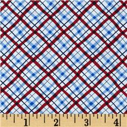 Winter Wishes Winter Plaid Blue/Red