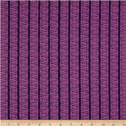 Michalina Chevron Stripe Purple