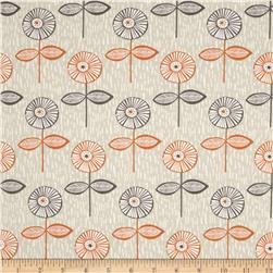Fabric Freedom Quirky Floral Quirky Singles Orange
