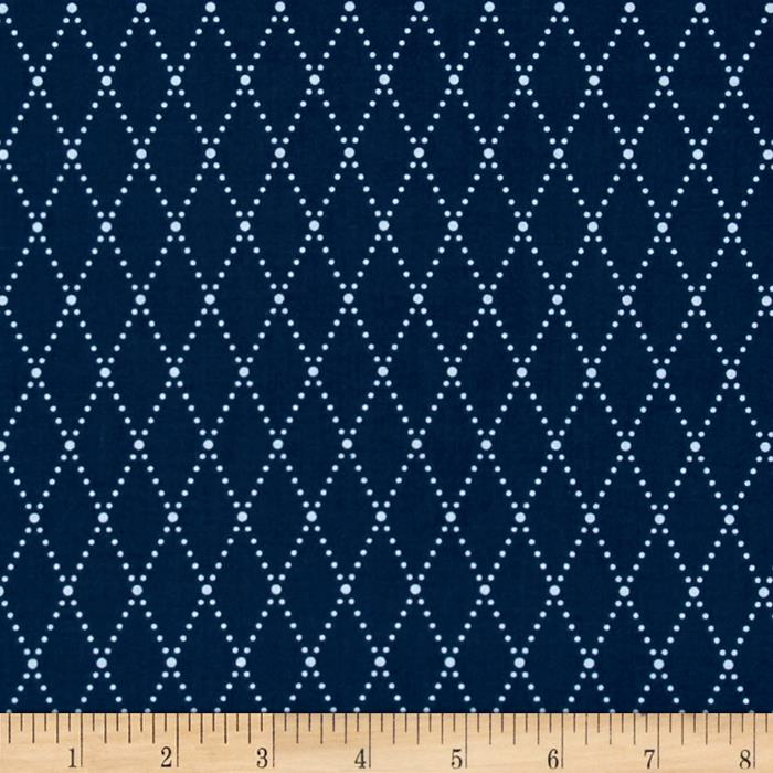 Riley Blake Lucky Star Argyle Navy