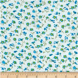Corduroy Flowers Blue