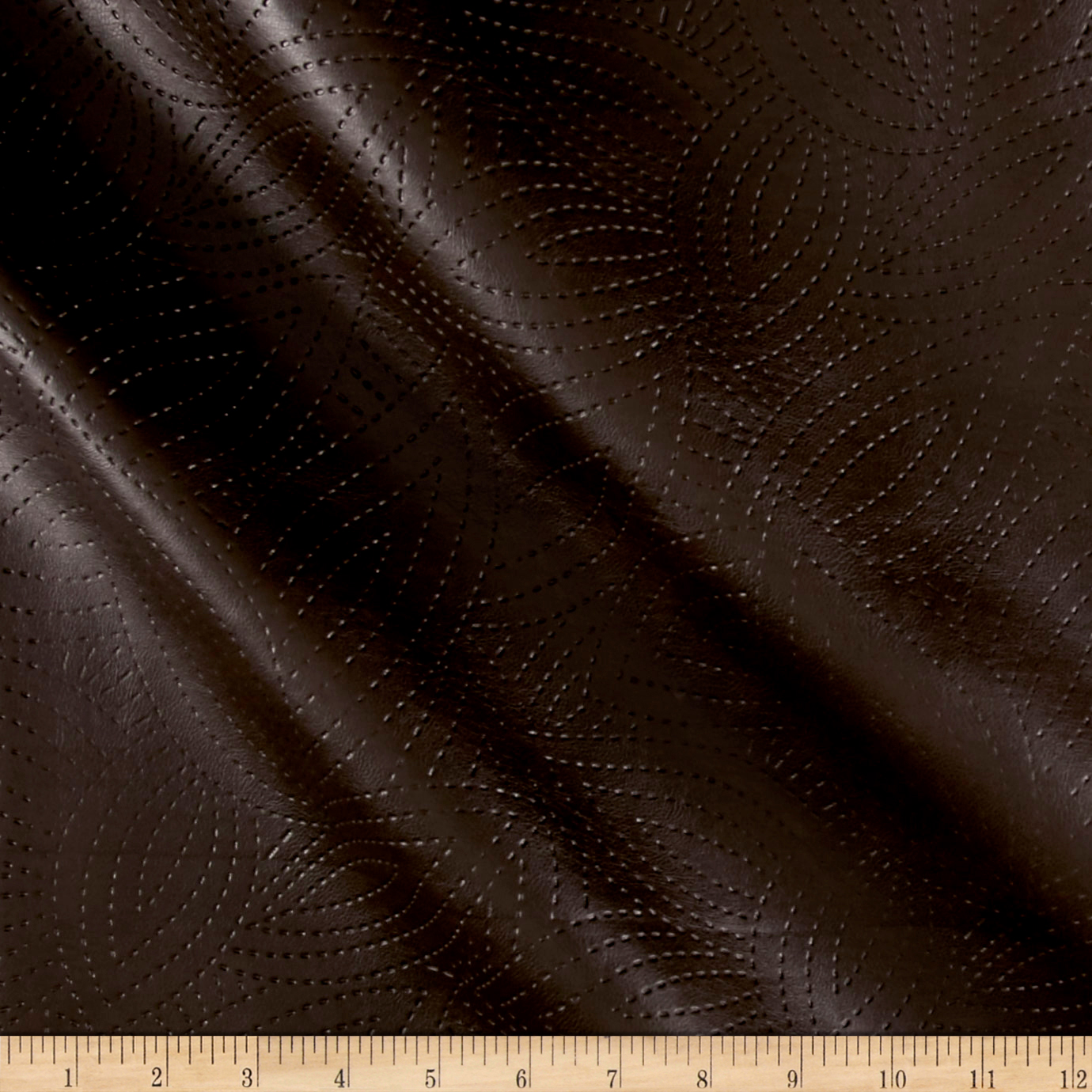 Richloom Tough Faux Leather Kensington Chocolate Fabric by TNT in USA