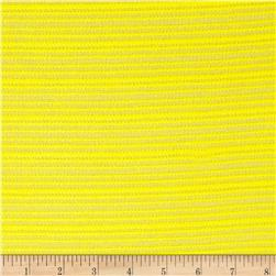 Fine Gauge Knit Shadow Stripe Pale Yellow
