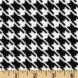 Kaufman Cool Cords Houndstooth Black