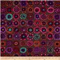 Kaffe Fassett Collective Button Flowers Prune
