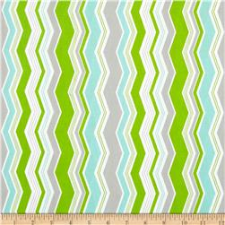 Riley Blake Little Ark Chevron Green Fabric