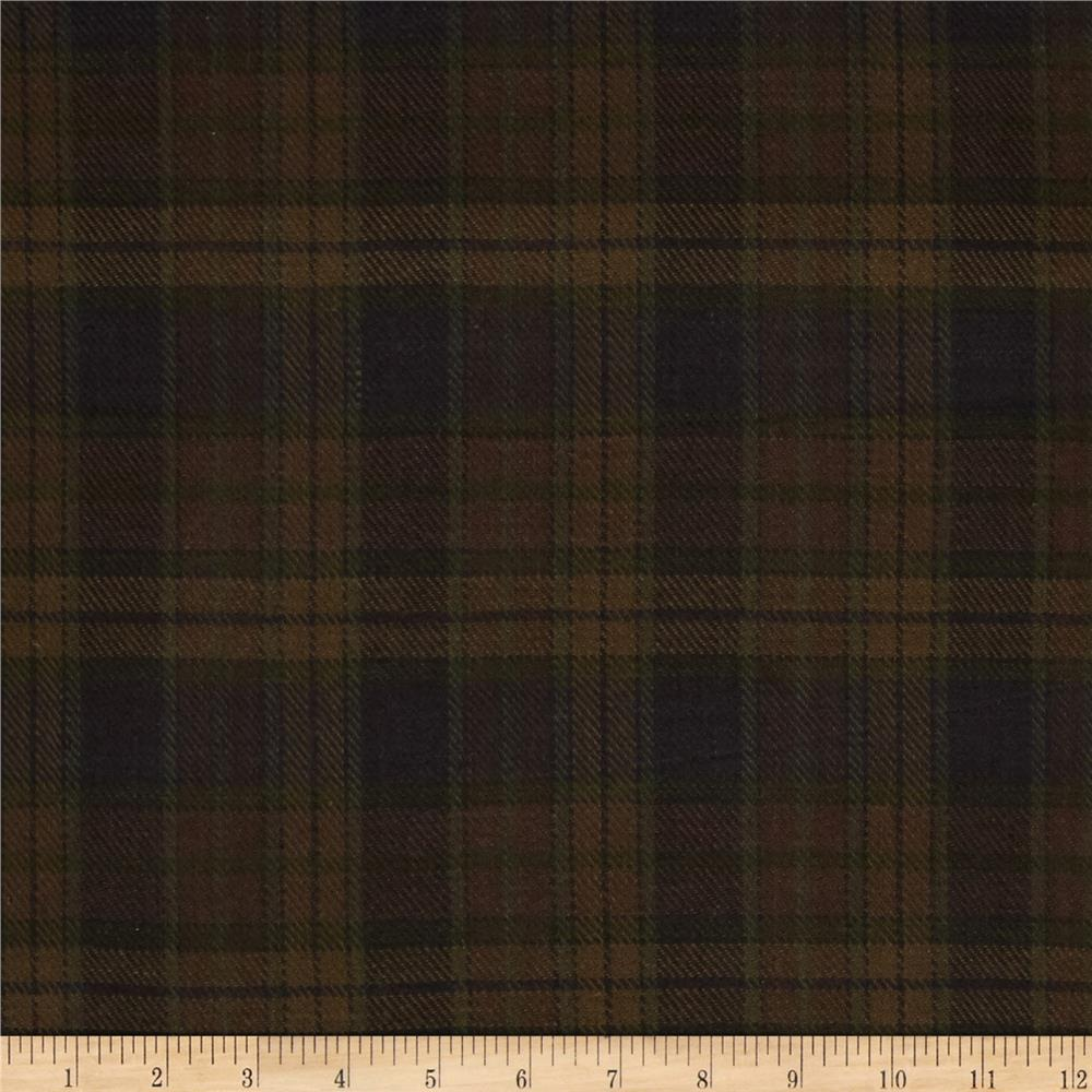 Cozy Yarn Dye Flannel Large Plaid Brown