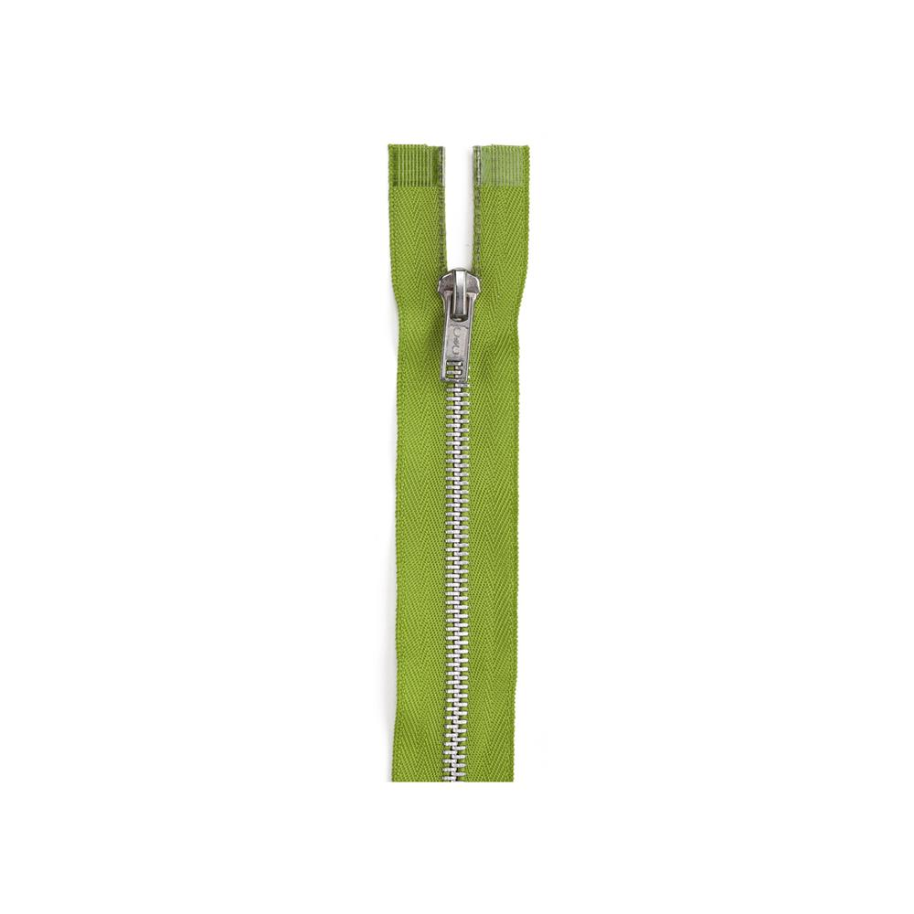 Fashion Aluminum Closed End Zipper 7'' Kiwi