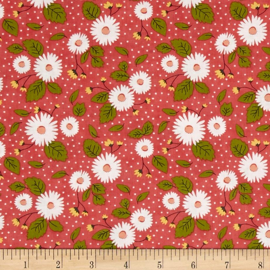 Moda Little Miss Sunshine Fresh Daisies Berry
