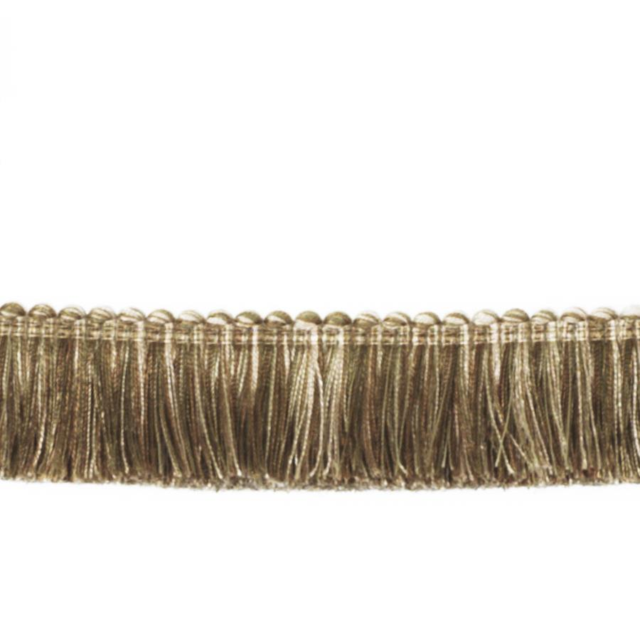 "Fabricut 1.5"" Escargot Brush Fringe Nutria"